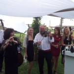 Hungarian Trio playing for wedding guests