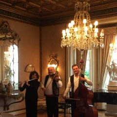 Live Musical Trio performs in Hall